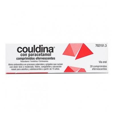 COULDINA CON PARACETAMOL 650 mg/4 mg/10 mg 20 COMPRIMIDOS EFERVESCENTES