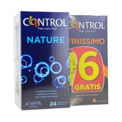 CONTROL NATURE PRESERVATIVOS 24+ 6 PRESERVATIVOS