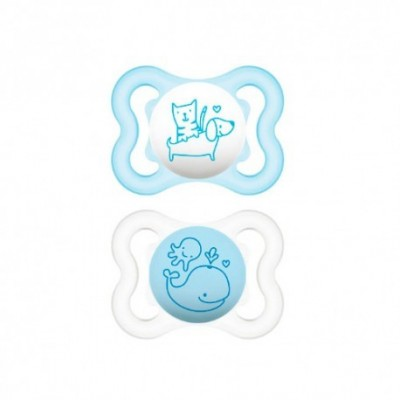 CHUPETE SILICONA MAM AIR 0- 6 M PACK DOBLE
