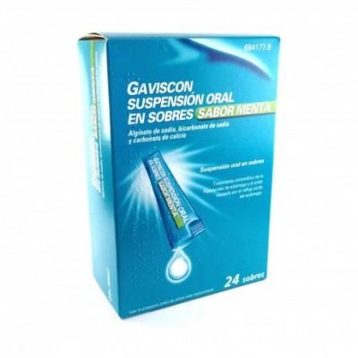 GAVISCON 24 SOBRES SUSPENSION ORAL 10 ml (SABOR MENTA)