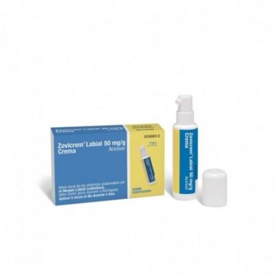 ZOVICREM LABIAL 50 mg/g CREMA 1 TUBO 2 g + BOMBA DOSIFICADORA