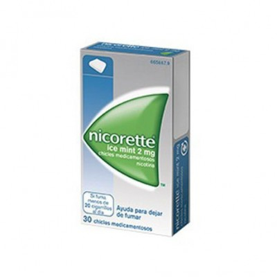 NICORETTE ICE MINT 2 mg 30 CHICLES MEDICAMENTOSOS