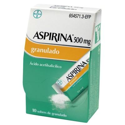 ASPIRINA 500 mg 10 SOBRES GRANULADO ORAL