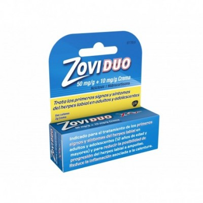 ZOVIDUO 50 mg/g + 10 mg/g CREMA 1 TUBO 2 g