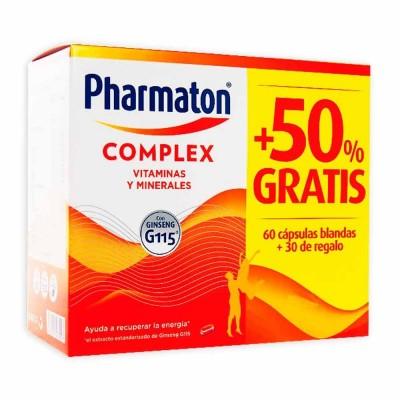 PHARMATON COMPLEX 60+30  CAPSULAS 50%