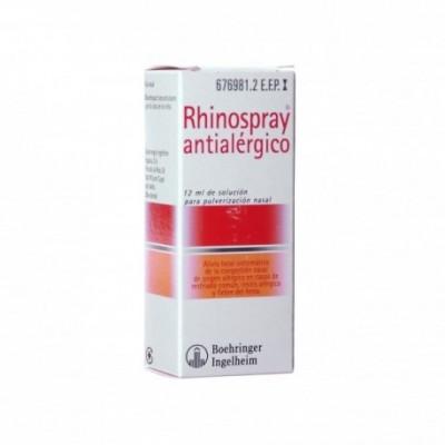 RHINOSPRAY ANTIALERGICO 5.05 MG/ML + 1.18 MG/ML NEBULIZADOR NASAL 12 ML