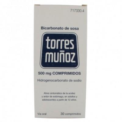 BICARBONATO DE SOSA TORRES MUÑOZ 500 MG 30 COMPR